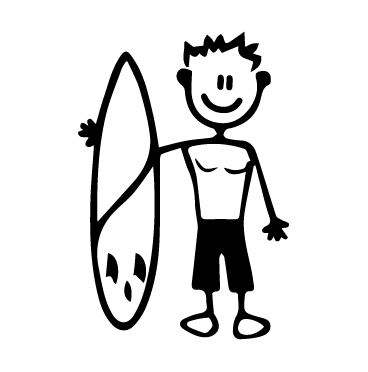 papà surfer